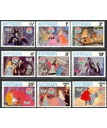 ANTIGUA SLEEPING BEAUTY DISNEY SET OF STAMPS & SOUVENIR SHEET - $12.00