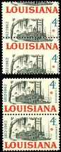 1197, Misperforation Dramatic ERROR Pair - 4¢ Louisiana - Mint NH -  Stu... - $30.00