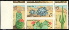 1945a, LARGE Misperforation ERROR Block - 20¢ Cactus - Mint NH --- Stuar... - $50.00