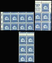 1510, MISCUT BOOKLET PANE ERRORS - THREE DIFFERENT - Mint NH - Stuart Katz - $45.00