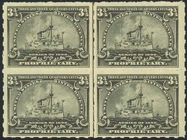 RB29p, RARE VF MINT BATTLESHIP BLOCK Cat $425.00+ - $200.14