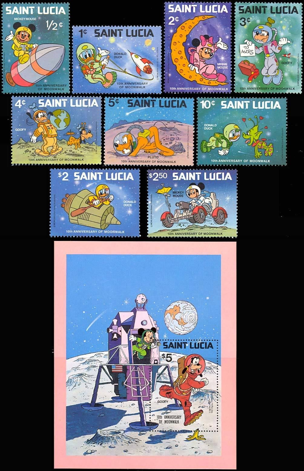 ST. LUCIA INTL YEAR OF THE CHILD SET OF 9 PLUS S/S