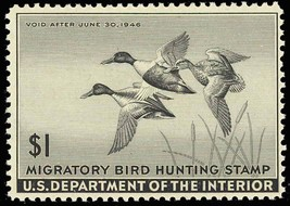 RW12, Mint DUCK STAMP - VF OG NH - P.O. FRESH!! Cat $110.00 - $55.00