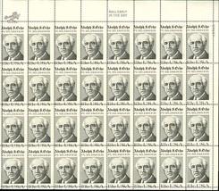 1700, RARE MISPERFED ERROR SHEET - ADOLPH OCHS - $249.15