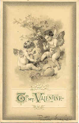 To my Valentine, 1907 cupid's post card
