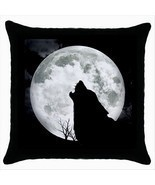 NEW* HOT BRIGHT MOON WOLF Cushion Cover Throw Pillow Case Decor Design Gift - £13.52 GBP