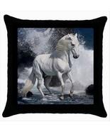 NEW* HOT CUTE WHITE HORSE Cushion Cover Throw Pillow Case Decor Design Gift - $18.99