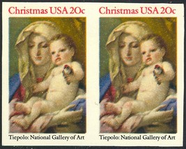 2026a, IMPERFORATE PAIR ERROR - RARE 20¢ CHRISTMAS - $121.50