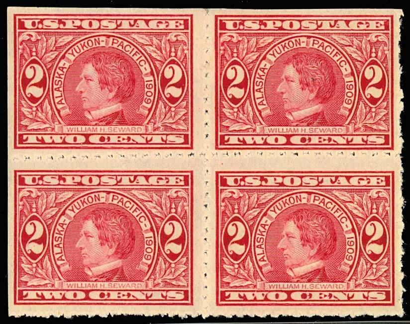 Primary image for 371 Var, PRIVATELY PERFORATED BLOCK - VF NH/LH - RARE!
