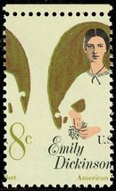 1436 Var, LARGE MISPERFORATION ERROR 8¢ EMILY DICKINSON - $26.96