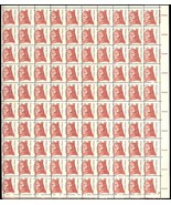 1855, 13¢ CRAZY HORSE MISPERFORATED ERROR SHEET OF 100 STAMPS - VERY RARE! - $510.00