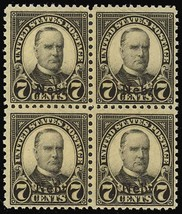676, Mint NH Block of Four - 7¢ Nebraska Cat $180.00 - Stuart Katz - $65.00