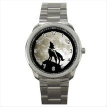 NEW* HOT WOLF FULL MOON Quality Sport Metal Wrist Watch Gift - $18.95