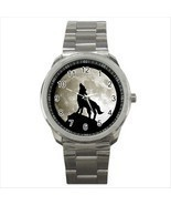 NEW* HOT WOLF FULL MOON Quality Sport Metal Wrist Watch Gift - £14.24 GBP
