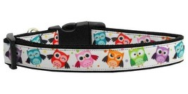 Bright Owls Dog Collar * Adjustable Nylon MD or LG * Puppy Pet Colorful ... - €11,25 EUR+
