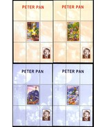 CONGO PETER PAN - SET OF FOUR SOUVENIR SHEETS - RARE! - $35.00
