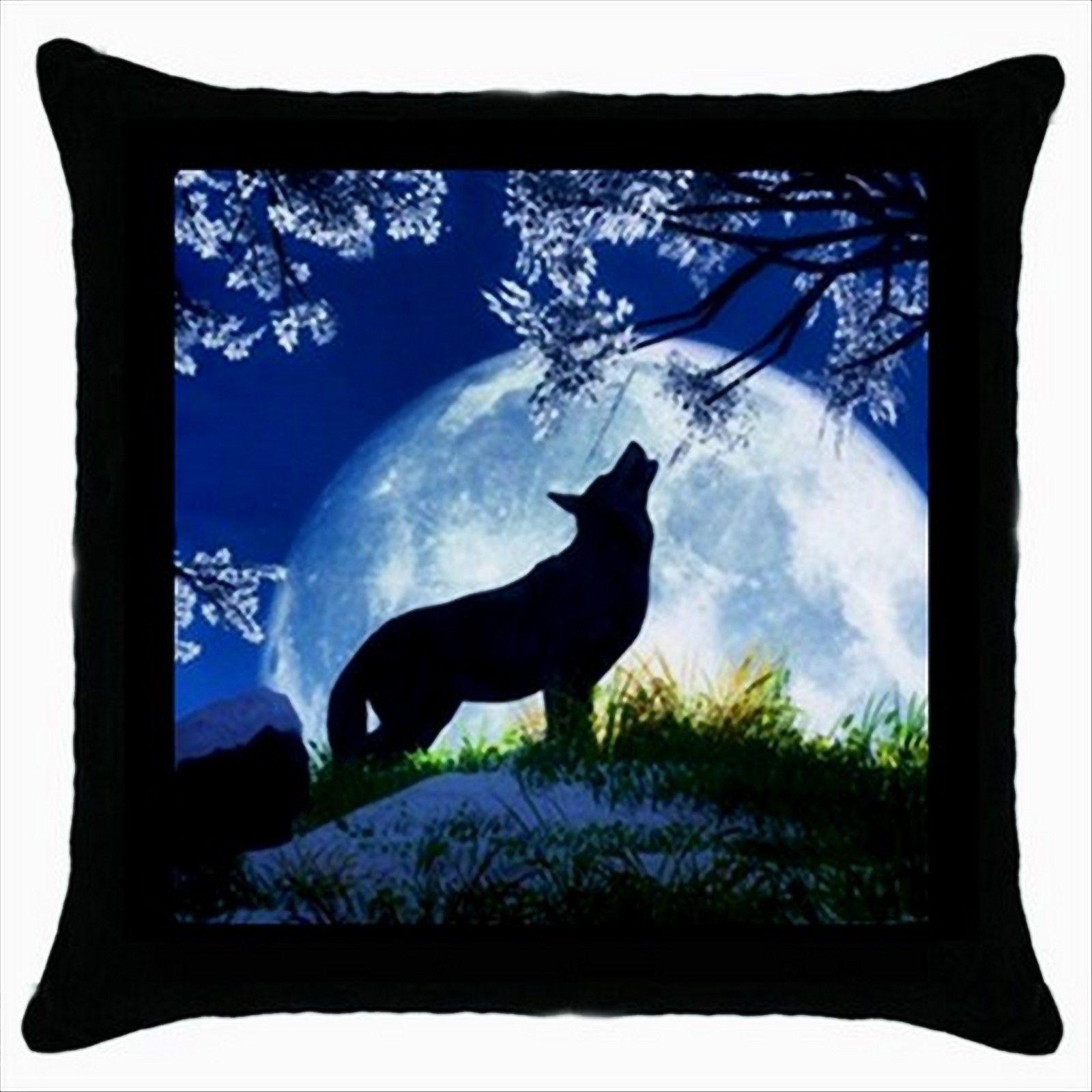 NEW* HOT CUTE MOON WOLF Cushion Cover Throw Pillow Case Decor Design Gift