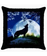 NEW* HOT CUTE MOON WOLF Cushion Cover Throw Pillow Case Decor Design Gift - €16,06 EUR