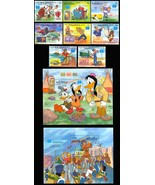MALDIVES DISNEY STAMP ON STAMP SET OF 8 PLUS TWO S/S - $18.50