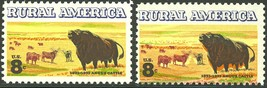 1504, SENSATIONAL All Colors Shifted ERROR Angus Cattle Stamp - $67.50