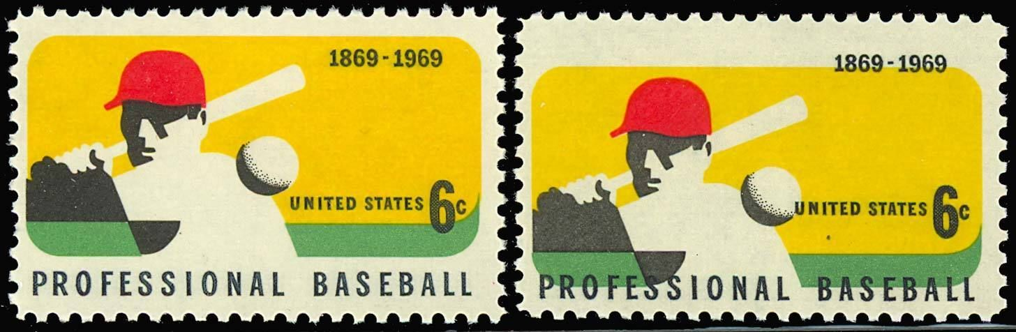 Primary image for 1381, MULTIPLE COLOR SHIFT ERROR - BASEBALL STAMP WoW