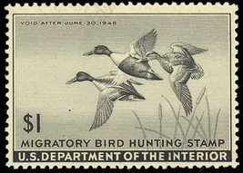 RW12, Mint DUCK STAMP - VF OG NH - P.O. FRESH! Cat $110.00 - $55.00