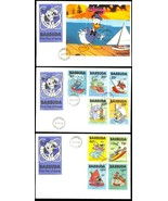 BARBUDA COMPLETE SET ON FIRST DAY COVERS - RARE! - $29.95