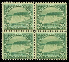 568, Mint 25c NIAGARA FALLS - VF-XF NH/LH BLOCK OF FOUR Cat $95.00 - Stu... - $45.00
