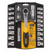 Bostitch 21pc Pass Thru Socket Set BTMT72286 NEW - $39.95