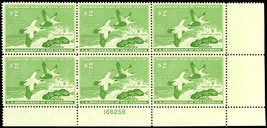RW24, DUCK PLATE BLOCK OF SIX - XF-SUPERB OG NH Cat $600.00+ image 2