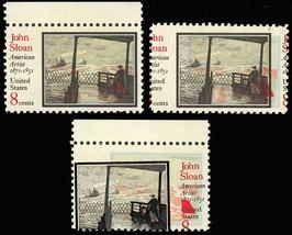 1433, Mint NH 8c John Sloan - TWO DIFFERENT COLOR SHIFT ERRORS - Stuart Katz image 2