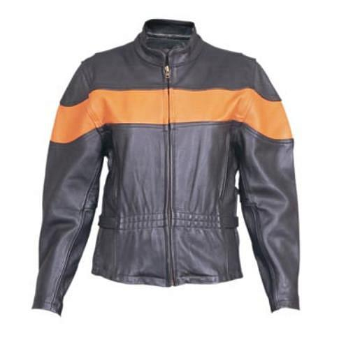 Primary image for Allstate Leather Womens Vented Orange Two Toned Motorcycle Jacket AL2171