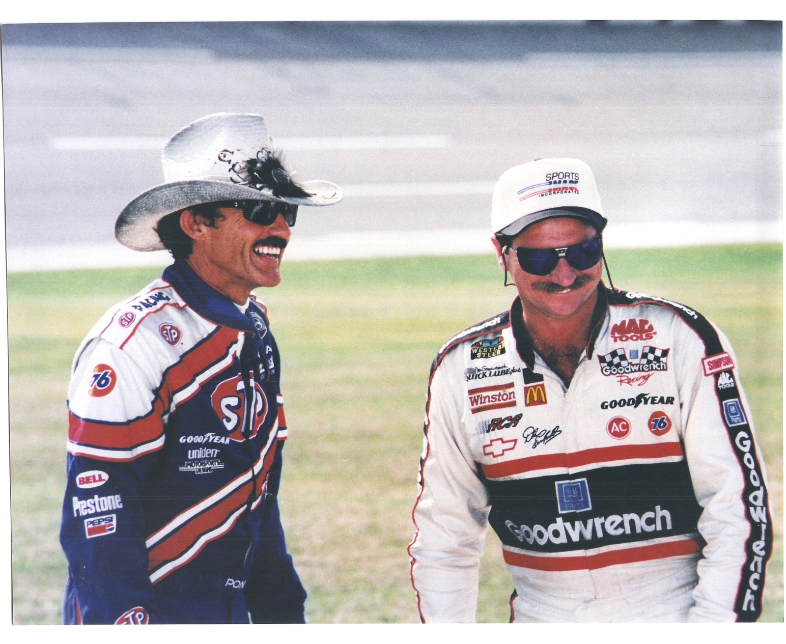Primary image for Richard Petty Dale Earnhardt Vintage 8X10 Color NASCAR Memorabilia Photo