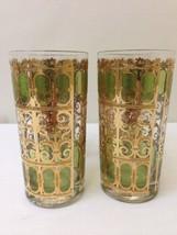 CULVER GLASSES HIGHBALL GLASSES 22K GOLD 12 OZ ( set of 4 ) - $57.82