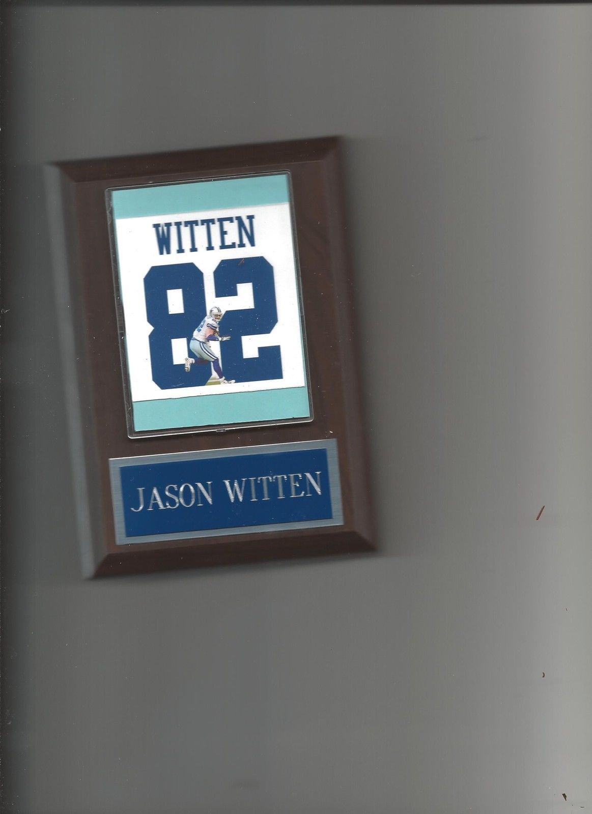Primary image for JASON WITTEN JERSEY PLAQUE DALLAS COWBOYS FOOTBALL NFL