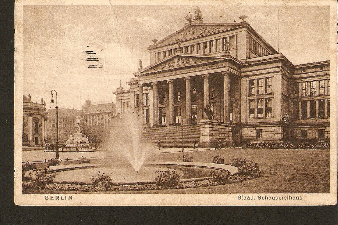 Primary image for Germany Berlin Staatl Schauspielhaus theater - passed Ventspils post in 1925
