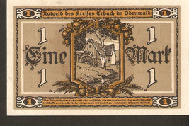 Germany Notgeld d. Erbach im Odenwald 1 MARK 1918 - no. 761276 - $6.00