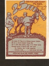 N.nt3. Germany Notgeld der Stadt Robel  25 Pfennig 1922 - $3.00