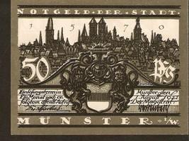 N.nt3. Germany Notgeld der stadt Munster 50 Pfennig 1921 - Kiepenkerl - $3.00
