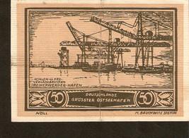 nnot2. Germany Notgeld der Stadt Stettin 50 Pfennig 1921 - 1922 no. 33330 - $5.00
