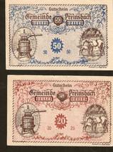 noa44. Austria Gutschein der Gemeinde PREINSBACH - 50 & 20 Heller 1920 - $7.00