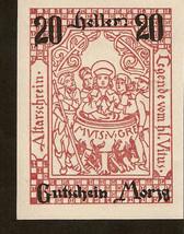 Austria Gutschein Morzg 20 Heller 1920 schloss Emsburg Altarschrein Legende Vitu - $14.00