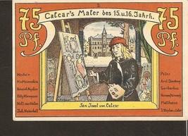nonot3. Germany Notgeld der Stadt Calcar 75 PFENNIG 1922 - Maler - Jan J... - $6.00