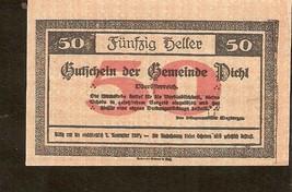 Austria Gutschein der Gemeinde PICHL  50 Heller - $3.00