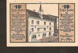 Austria Gutschein der marktgemeinde AIGEN  10 heller 1920 - $3.00
