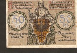 nonot3. Germany Kriegsgeld Donauworth 50 Pfennig 1918 - heinz Schiestl - $3.00
