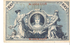 no.fa1. Germany  Berlin 100 Mark 1908 - Nr 4906355 E - $7.00