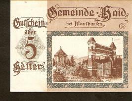 Austria Gutschein Gemeindeamt HAID bei Mauthausen 5 heller kriegsgefan G... - $3.00