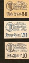 Austria Gutschein d. Gemeinde ST. GEORGEN und Tollet  50 & 20 & 10 Helle... - $4.00