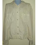 NWT $66 Fresh Produce Size Medium M Broadcloth Jacket Beige Cotton Light... - $14.99
